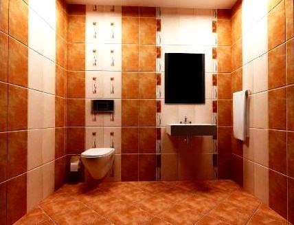 kahve rengi duvar banyo fayans