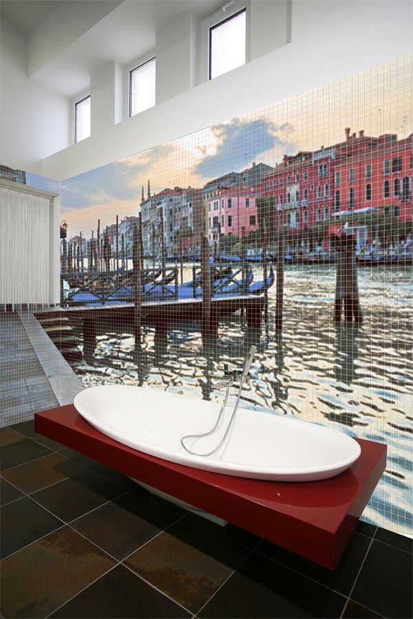 resimli banyo fayansları duvar mozaik modelleri - banyo manzarali seramik - Resimli Banyo Duvar Mozaik Modelleri