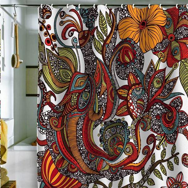 Canlı Renk Ve Desenlere Sahip Duş Perdeleri 2