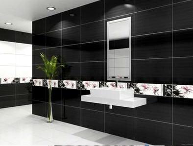 siyah banyo duvar fayans