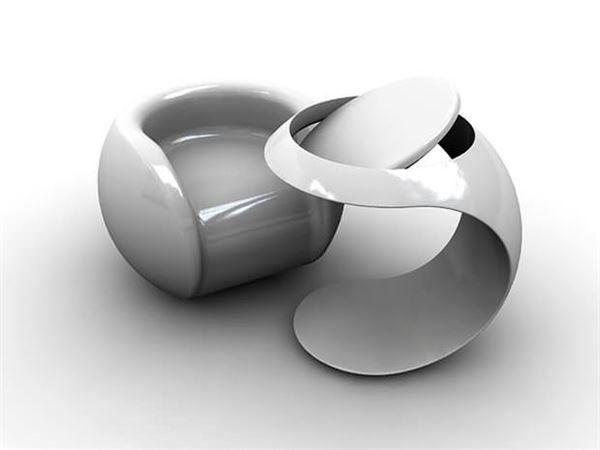 Değişik top şeklinde mobilya 5