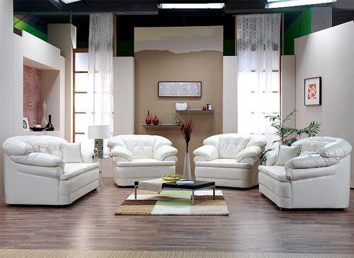 deri koltuk modelleri - beyaz deri koltuk - Modern Deri Koltuk Modelleri