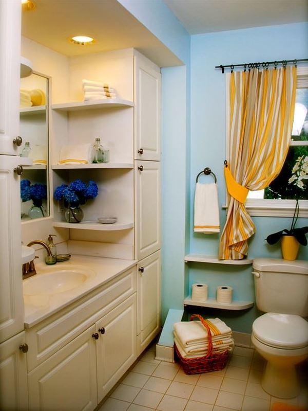 Banyo Depolama Alanlar Dekorasyon Stilleri