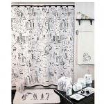 banyo-dus-perde-modelleri duş perdesi - beyaz kuvet perdesi 150x150 - Renkli Desenli Banyo Perde Modelleri