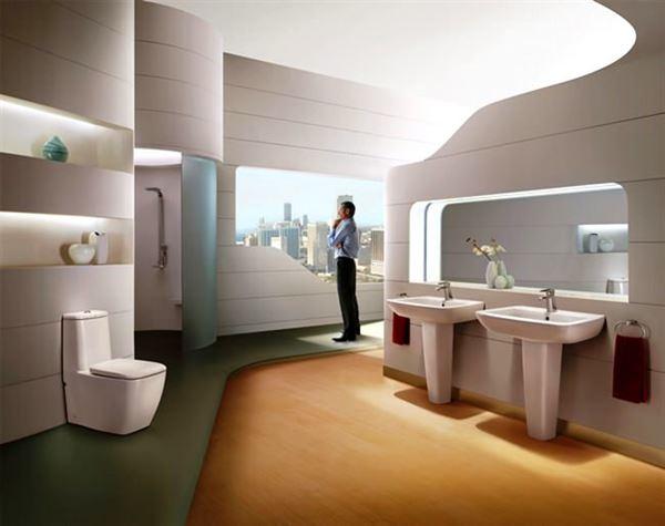 modern yenilikçi banyo dekorasyon stilleri - beyaz modern 2013 banyo - Modern Yenilikçi Banyo Dekorasyon Stilleri