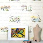 desenli duvar kağıt renkleri
