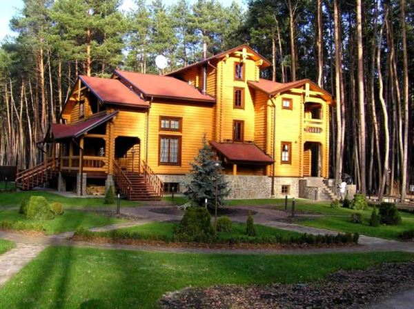 doğal ahşap ev