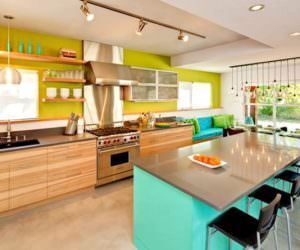 Geniş Mutfak Dekorasyon Modeli