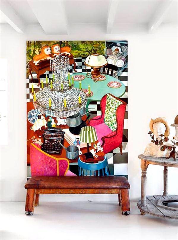 eskitme boyanmış mobilya