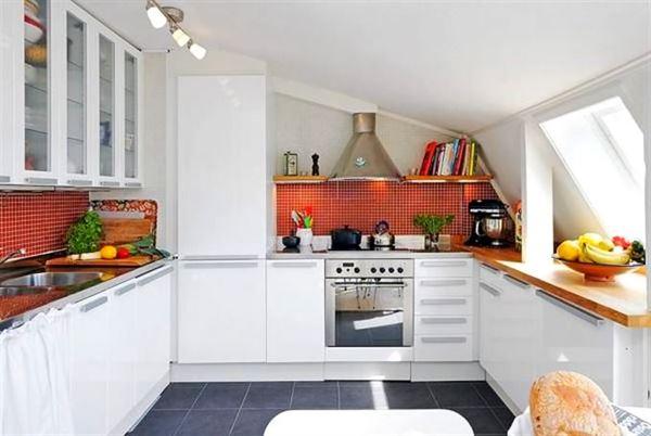 çatı katı daire mutfak modeli