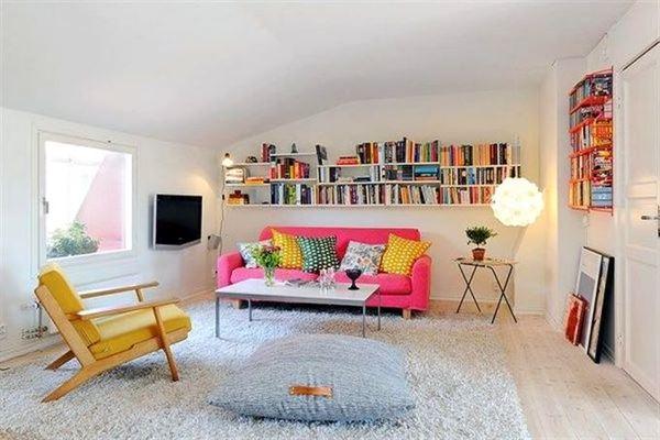 çatı katı daire oturma odası