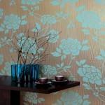 resimli duvar dekorasyonları - cicek desenli duvar 150x150 - Değişik Resimli Duvar Dekorasyonları