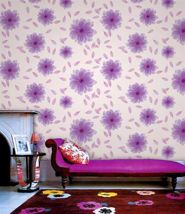 desenli renkli duvar kağıt