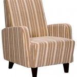 modern tekli berjer koltuk modelleri - cizgili kumasli berjer 150x150
