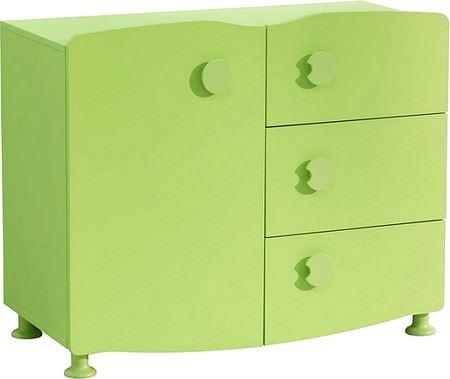 yeşil çocuk şifonyer modeli