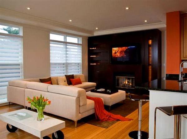 Beyaz lüks oturma odası dekorasyon fikirleri 3