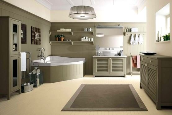 avangard ve contry tarzı ev dekorasyon modeli - conrtry banyo dekorasyon modeli