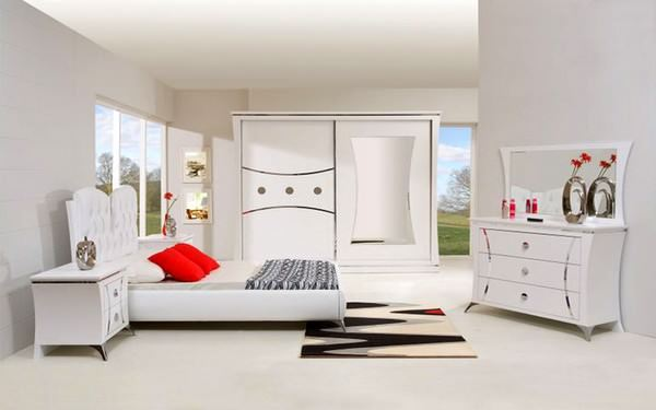 Beyaz Renk Yatak Odası Modelleri