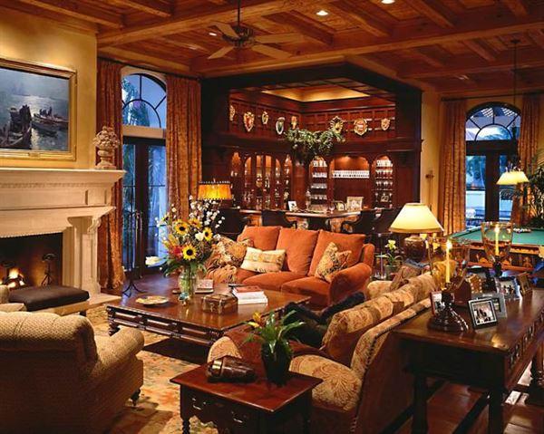 contry salon oturma odasi dekorasyon