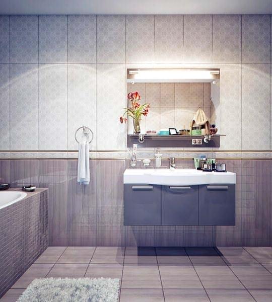 Ultra Lüks Dekorasyonlu Banyo Örnekleri 7