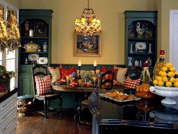 country-eskitme-yemek-odasi contry tarzı mekan dekorasyonları