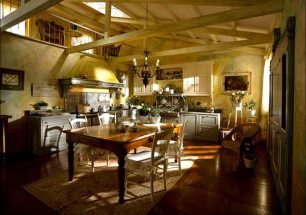 country-mutfak-dekorasyonu contry tarzı mekan dekorasyonları
