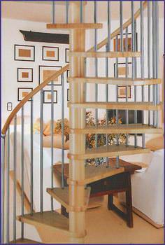 Oval Dubleks Daire Merdivenleri 2