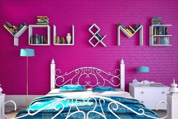 Değişik Tasarımlarda Renkli Duvar Raf Modelleri 1