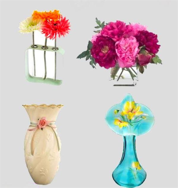 Dekoratif cam ve porselen vazo modelleri 4
