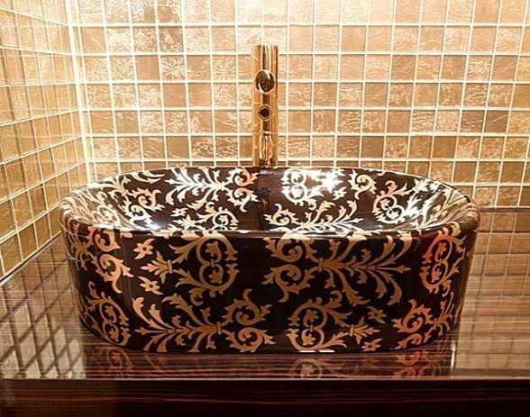 geometrik desenli lavabo modeli