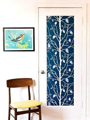Duvar Kağıdıyla İç Kapı Süslemeleri 1