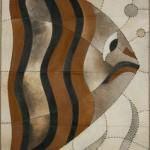 modern Şık deri halı modelleri - dekoratif modern deri hali 150x150