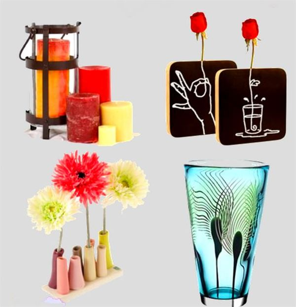 Dekoratif cam ve porselen vazo modelleri 6