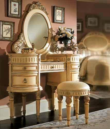 klasik oval makyaj masası