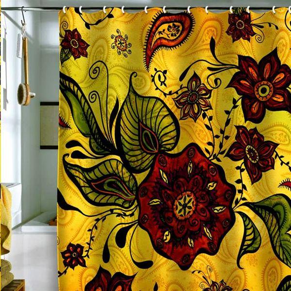 Canlı Renk Ve Desenlere Sahip Duş Perdeleri 6