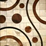 modern Şık deri halı modelleri - desenli deri hali 150x150