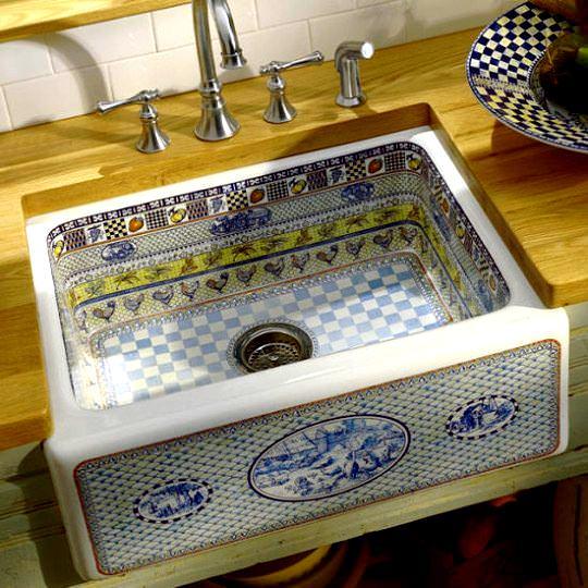 dekoratif çini desenli lavabo modelleri