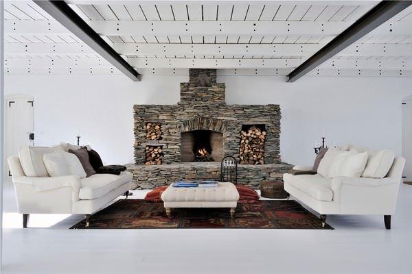 Büyük Beyaz Rustik Ev Dekorasyonu 21