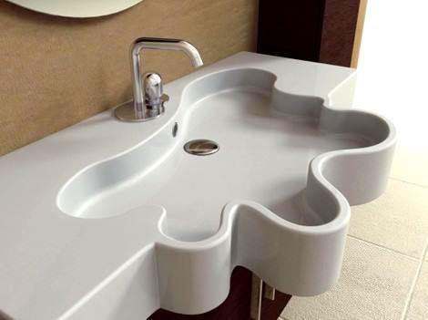 İlginç Farklı Banyo Lavabo Tasarımları 22