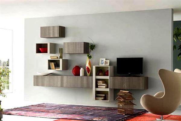 dekoratif duvar montalı tv ünite