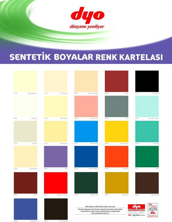 Dyo Boya Renk Kartelaları 6