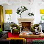 Renkli Oturma Odası Dekorasyon Fikirleri 6
