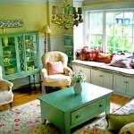 Renkli Oturma Odası Dekorasyon Fikirleri 5