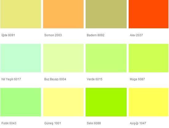Fawori Duvar Boya Renkleri 12