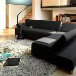 renkli koltuk takımlarıyla oda dekorasyonu - fonksiyonel siyah kanepe kose takimi 150x150