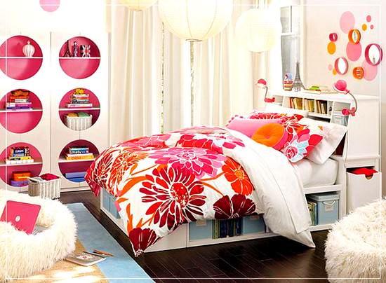 dekoratif genç kız odası dekorasyon