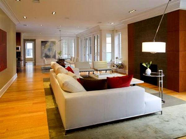 Beyaz lüks oturma odası dekorasyon fikirleri 4