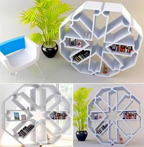 Modern Yeni Tasarım Kitaplık Modelleri 5