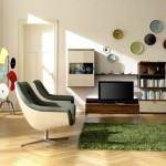geometrik desenli oda dekorasyon