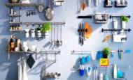 İkea Mutfak Duvar Raf Askıları